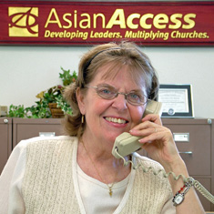 Ellen Hale, Asian Access receptionist since 1983