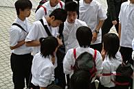 High school students in Tokyo