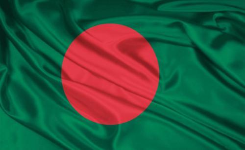 flag of Bangladesh waving
