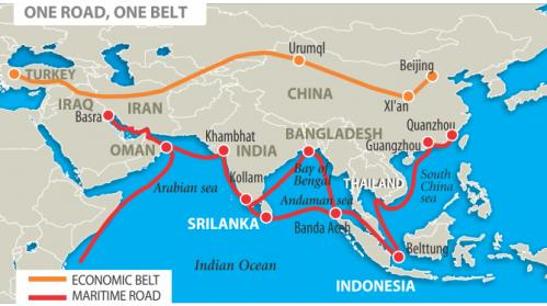 The belt and road in Asia