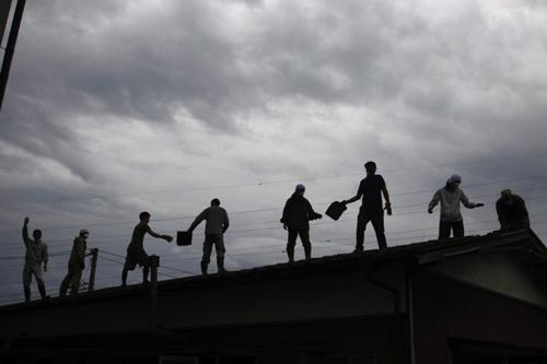 J-Teams relief work line