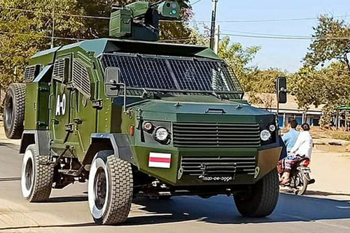 Thunder armoured vehicle of Myanmar Army small